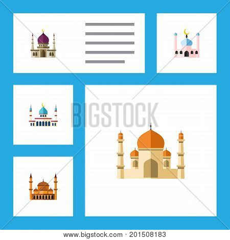 Flat Icon Minaret Set Of Traditional, Mohammedanism, Islam And Other Vector Objects