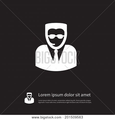 Bodyguard Vector Element Can Be Used For Bodyguard, Professional, Man Design Concept.  Isolated Professional Icon.