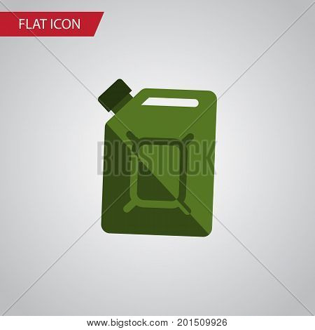 Fuel Canister Vector Element Can Be Used For Oil, Jerrycan, Fuel Design Concept.  Isolated Jerrycan Flat Icon.