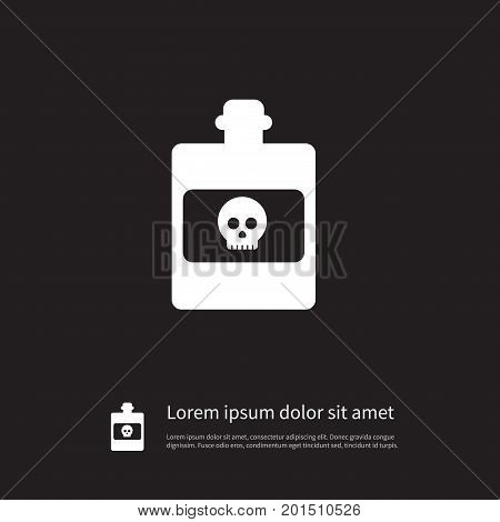 Dangerous Vector Element Can Be Used For Dangerous, Toxic, Poison Design Concept.  Isolated Toxic Icon.