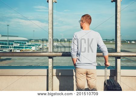 Traveler Waiting For Departure