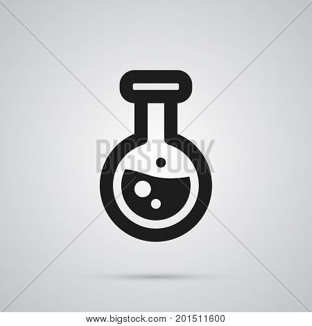 Isolated Test Tube Icon Symbol On Clean Background