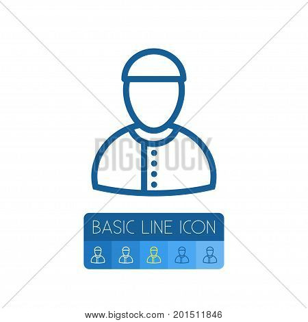 Arabian Vector Element Can Be Used For Arabian, Mullah, Man Design Concept.  Isolated Mullah Outline.