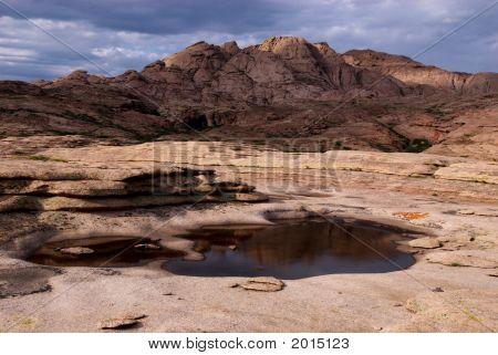 Thunderstorm In Desert Mountains