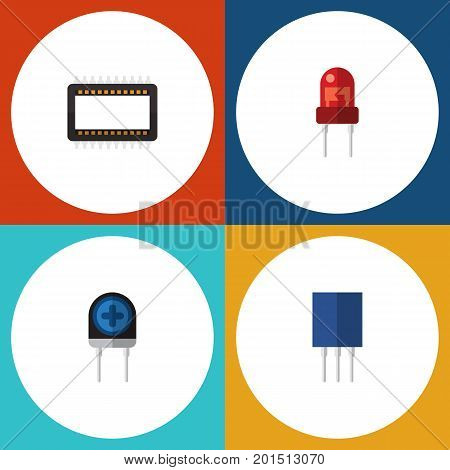 Flat Icon Appliance Set Of Mainframe, Receptacle, Recipient And Other Vector Objects