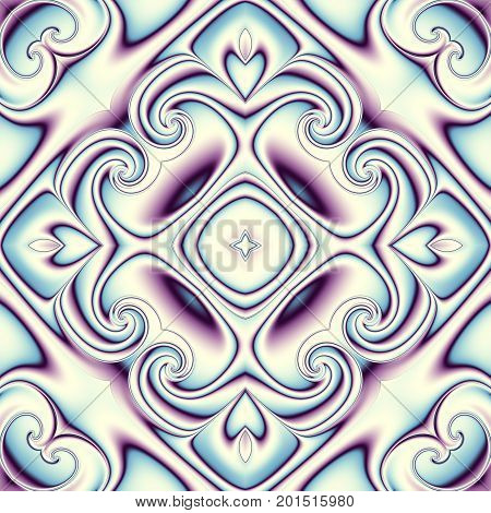 Abstract square background. Symmetric retro decorative ornament pattern