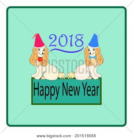 Modern stylis card. Dog is a symbol of the 2018 Chine New Year. Fashion graphic background design. Colorful abstract texture template for prints textiles wrapping wallpaper. Vector illustration