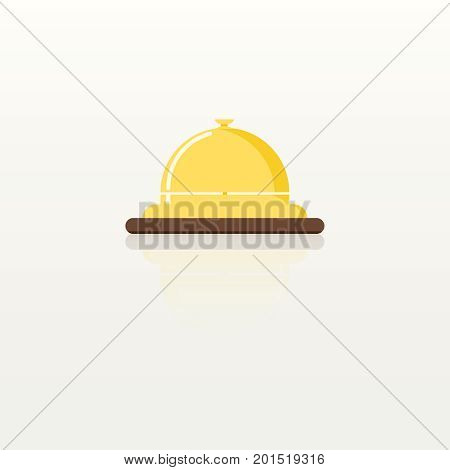 Bell icon isolated on white background hotel bell reception icon vector service bell