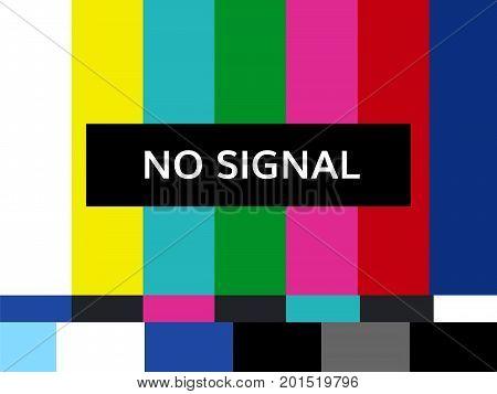 tv no signal design vector illustration broken tv