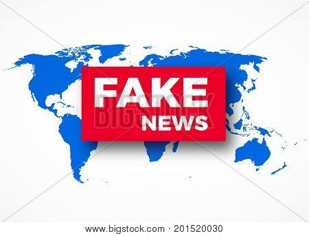 Fake news HOAX concept breaking fake news