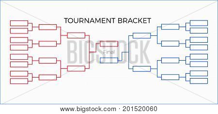 Tournament Bracket vector illustration  red and  blue