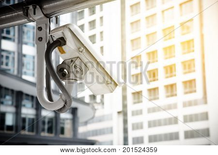 CCTV Camera using for protect criminal in the metropolis