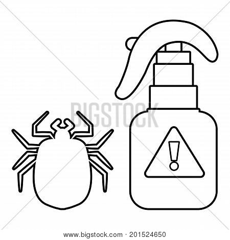 Spray icon. Outline illustration of spray vector icon for web