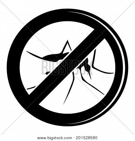 No mosquito icon. Simple illustration of no mosquito vector icon for web