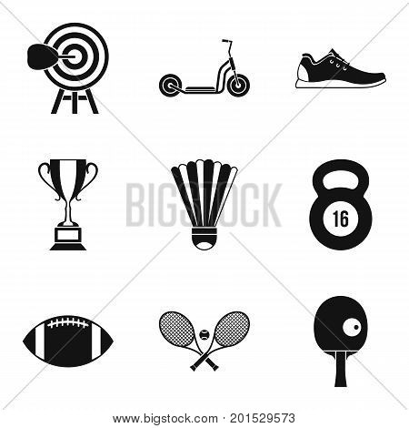 Winner cup icons set. Simple set of 9 winner cup vector icons for web isolated on white background