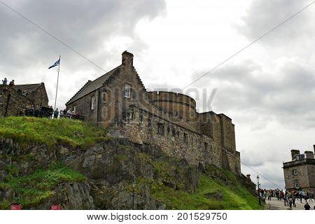 EDINBURGH, SCOTLAND - JULY 17, 2017: Edinburgh Castle in Edinburgh, Scotland, UK.