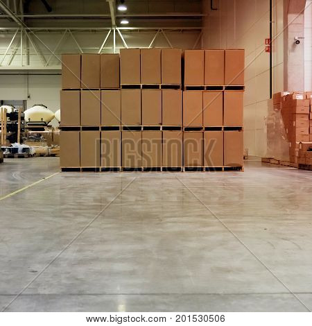 Warehouse Industrial Premises For Storing Materials And Wood, There Is A Forklift For Containers. Co