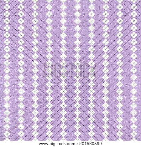 Seamless illustrated argyle pattern in pastel colors