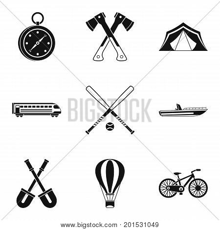 Big muscle icons set. Simple set of 9 big muscle vector icons for web isolated on white background
