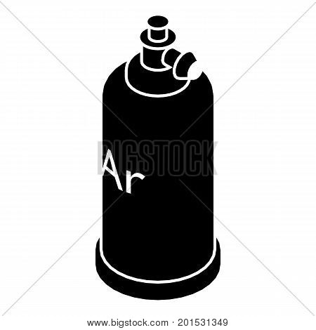Welding cylinder icon. Simple illustration of welding cylinder vector icon for web