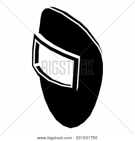 Welding mask icon. Simple illustration of welding mask vector icon for web