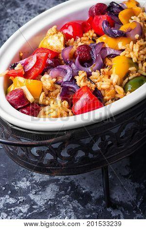Jambalaya In Chafing Dish