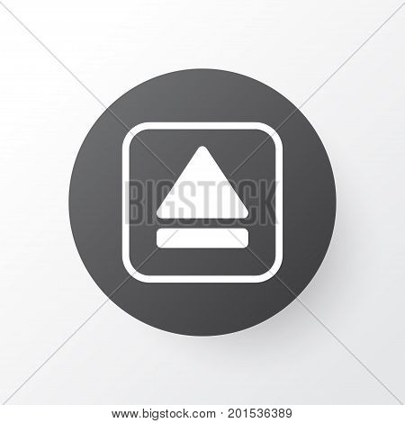 Premium Quality Isolated Extract Device Element In Trendy Style.  Eject Button Icon Symbol.