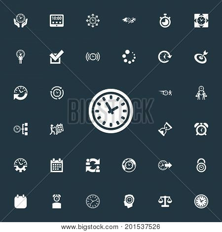 Elements Deadline, Chronometer, Tasks And Other Synonyms Timing, Redirect And Task.  Vector Illustration Set Of Simple Management Icons.