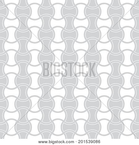 Vector seamless pattern. Modern stylish texture with intersecting thin waved lines. Abstract geometric background