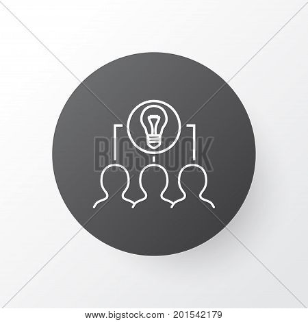 Premium Quality Isolated Collaborative Solution Element In Trendy Style.  Collaborative Idea Icon Symbol.