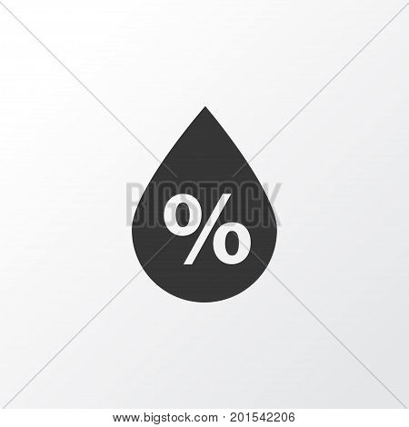 Premium Quality Isolated Moisture Element In Trendy Style.  Humidity Icon Symbol.