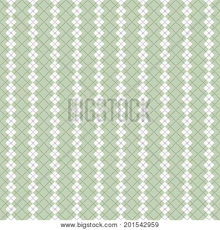 Seamless argyle pattern in pale green and white.