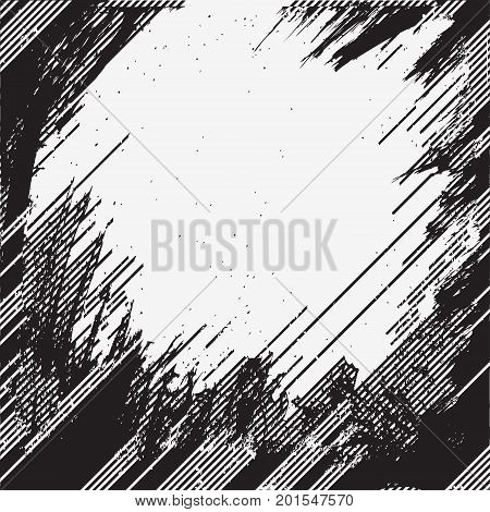 Distress Overlay Texture For Your Design. Black and white grunge background. vector illustrations