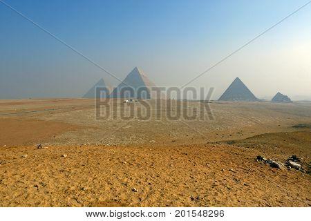 A beautiful view of Pyramids of Giza, EGYPT.