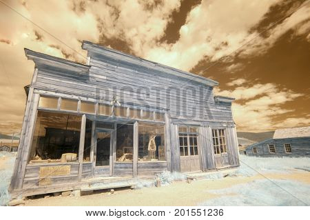 Boone Store And Warehouse In Bodie, California In Infrared