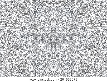 Abstract outline black and white concentric pattern