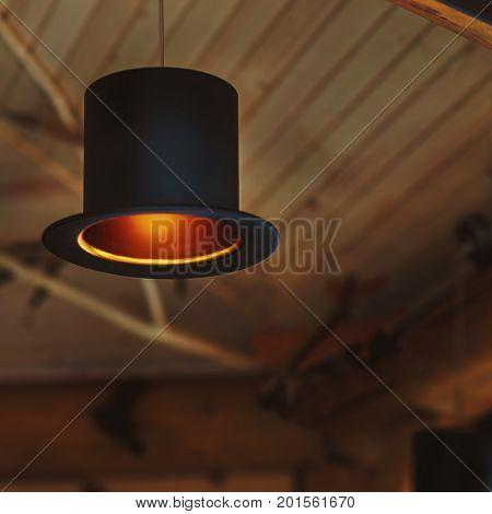 Original lamp cylindrical form in mini bar