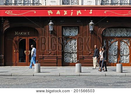 PARIS FRANCE September 27: View of the famous restaurant