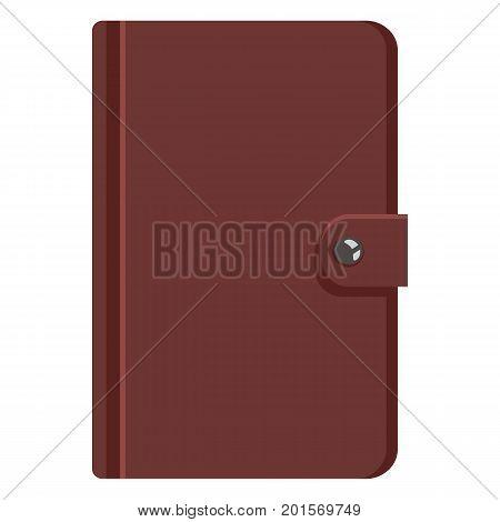 Vector Single Cartoon Brown Leather Diary