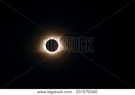 Solar eclipse of August 2017 approaching the end of totality
