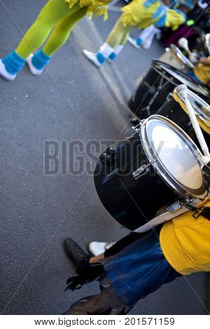 Drums In A Marching Band
