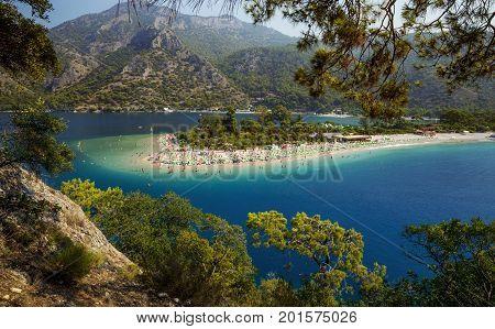 Blue Lagoon in Oludeniz Fethiye, southern Turkey