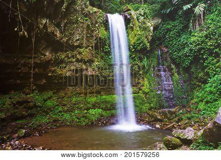 Mahua Waterfall In Tambunan, Sabah Borneo, Malaysia.