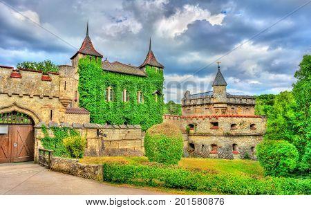 Entrance to Lichtenstein Castle in Baden-Wurttemberg - Germany