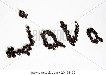 java written in coffee beans