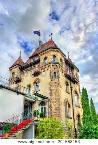 Historic building in Tubingen, Akademische Verbindung Igel - Baden Wurttemberg, Germany
