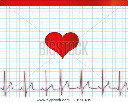 heartbeat diagram electrocardiogram  electrocardiograph