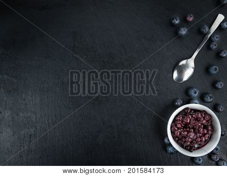 Slate Slab With Preserved Blueberries