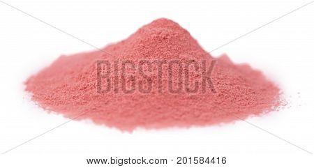 Strawberry Powder Isolated On White Background