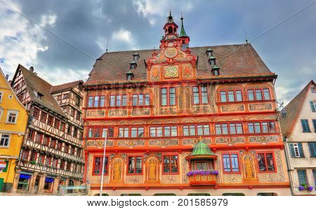 Rathaus, the town hall of Tubingen in Baden-Wurttemberg - Germany